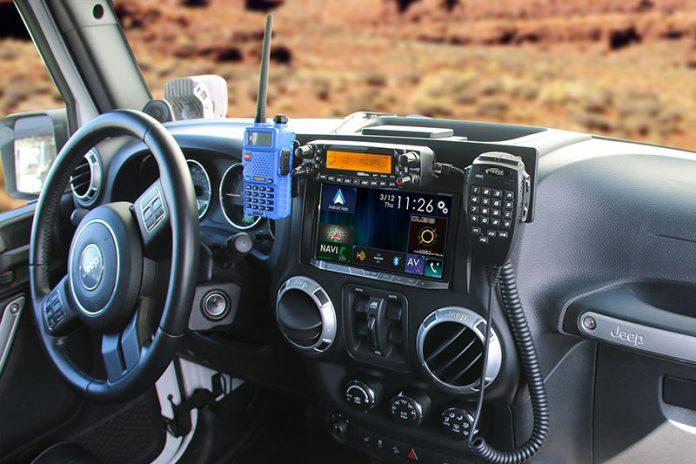Sistema de radio de un todoterreno