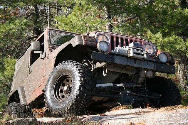 Neumáticos de un jeep 4x4